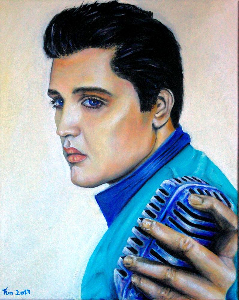 Elvis (oil on canvas 40cm x 50cm) by bigbadfuds