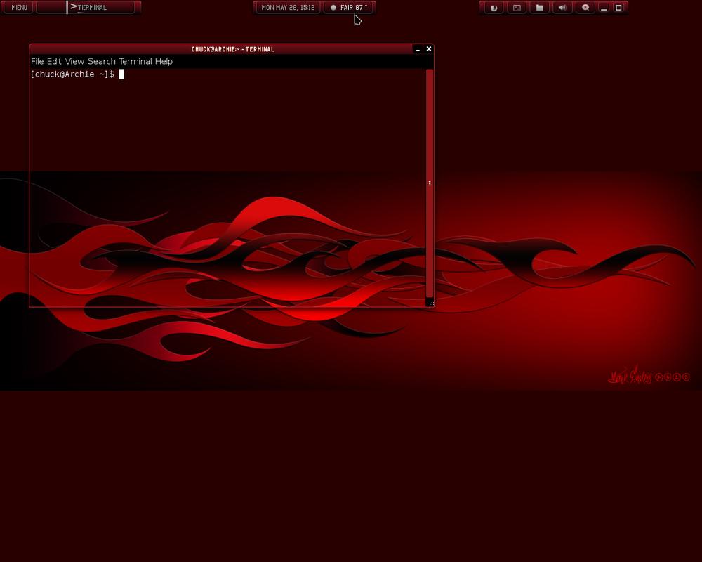Early Cherry Bomb w/ Black-Amber-1 Gtk screenshot by cbowman57