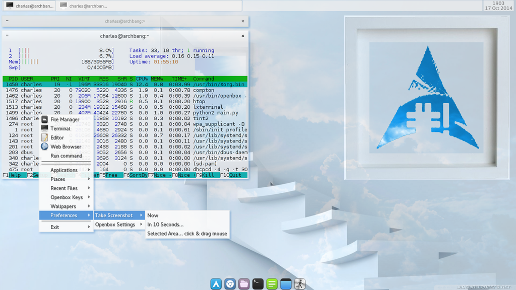Toying around with Openbox (Screenshot) by cbowman57