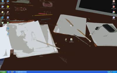 My Desktop is My Workplace by Penciled-Cookie