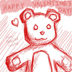 Valentine's Day. by Penciled-Cookie