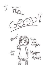 BANG- Happy Virus by Penciled-Cookie