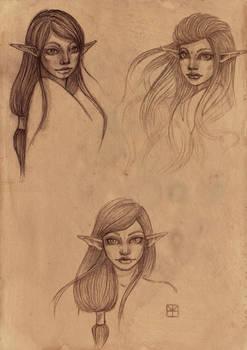 Asra - Sketch sheet