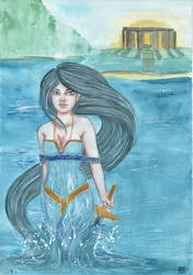 Lady of the lake III by Eimiel