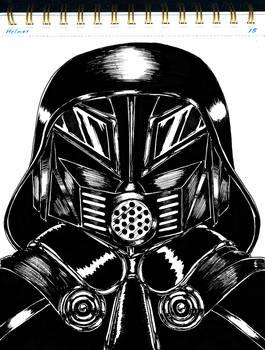 Inktober 2021 Day 15 Helmet