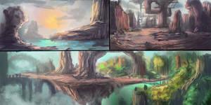 3 landscapes concepts.