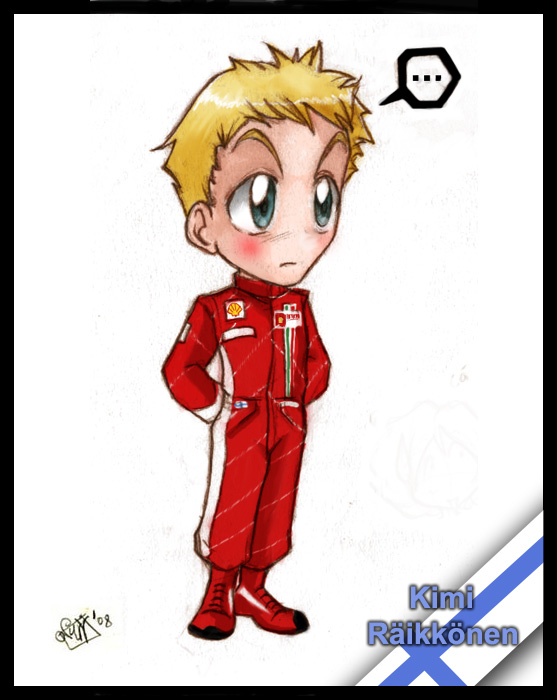 F1 chibis- Kimi Raikkonen by Noe-Izumi
