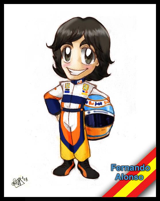 F1 chibis- Fernando Alonso by Noe-Izumi