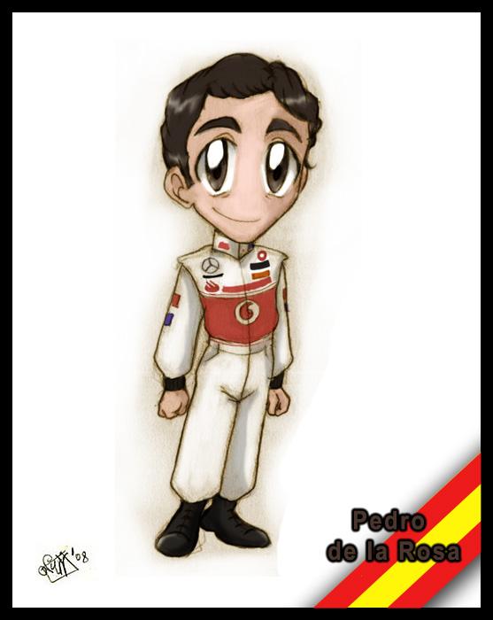F1 chibis: Pedro de la Rosa by Noe-Izumi
