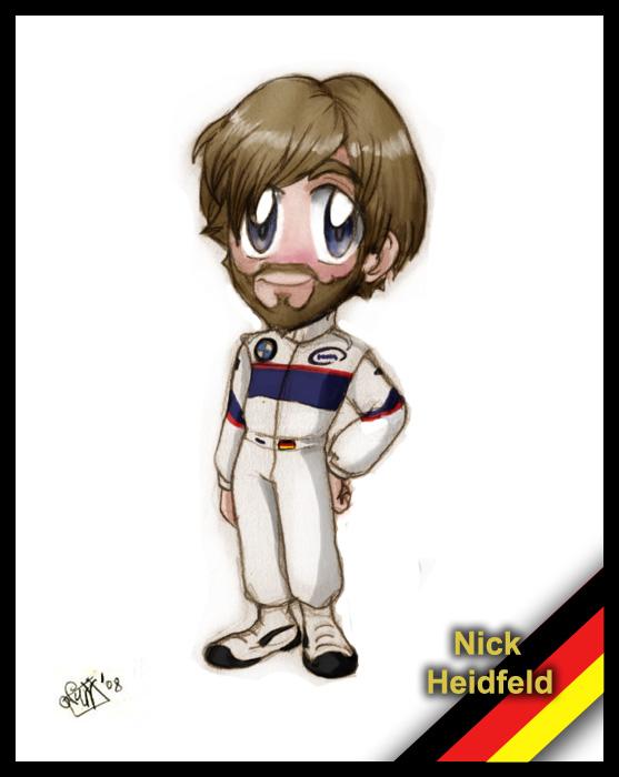 F1 chibis: Nick Heidfeld by Noe-Izumi