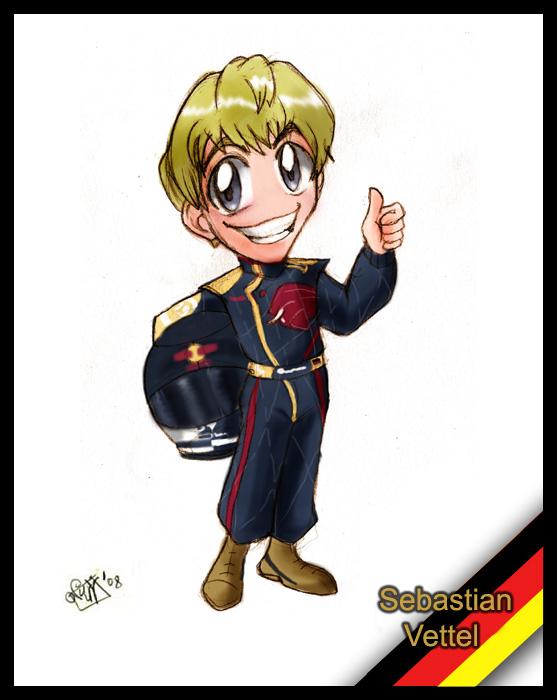 F1 chibis- Sebastian Vettel by Noe-Izumi