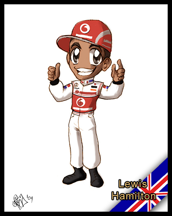 F1 chibis- Lewis Hamilton by Noe-Izumi