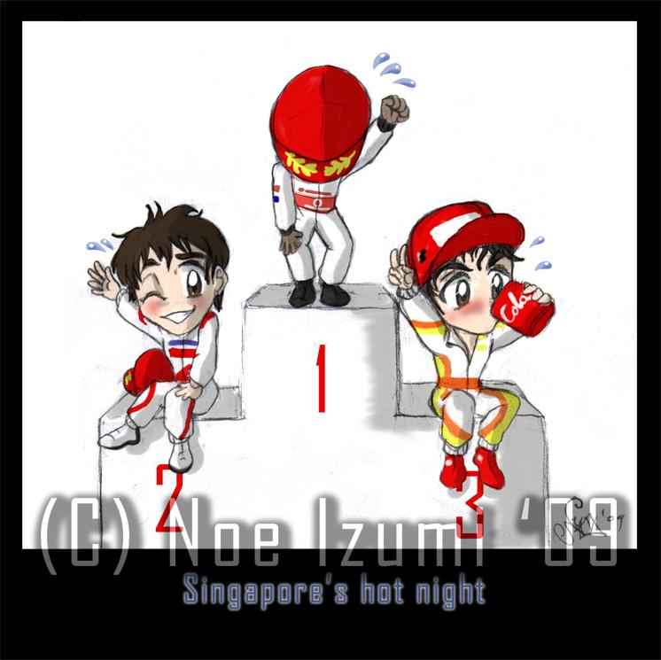 F1 chibis- Singapur 2009 by Noe-Izumi