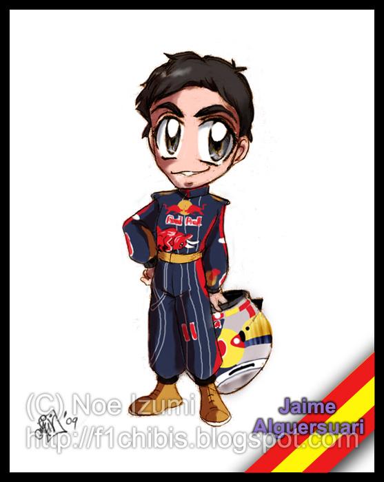 F1 Chibis- Jaime Algersuari by Noe-Izumi