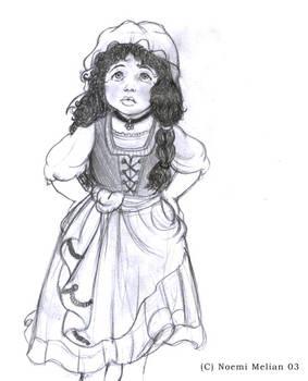 Young hobbit girl