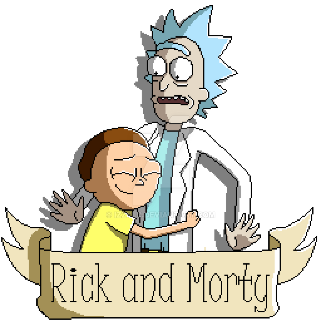 Pixel Rick and Morty 2 by IzzyLC