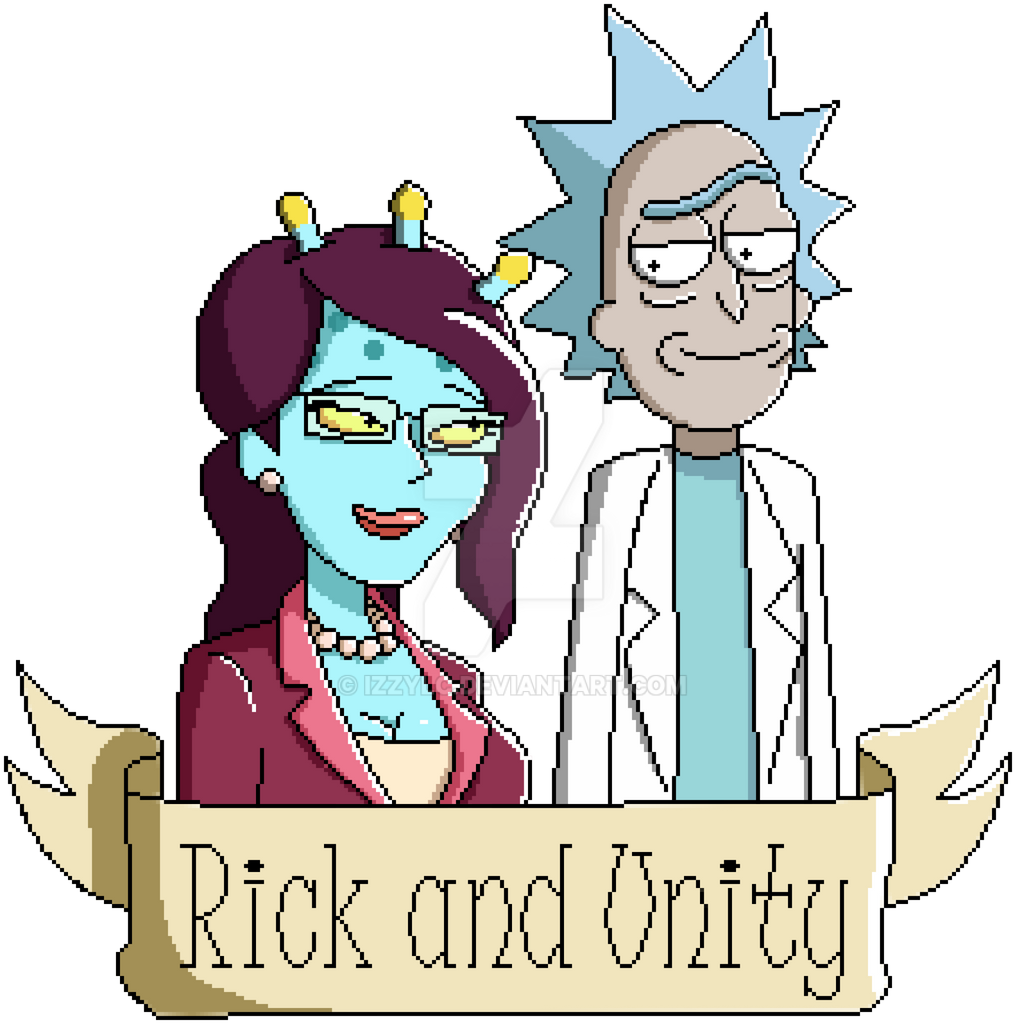 Pixel Rick and Unity by IzzyLC