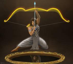 Arjuna  Aiming The Fish Eye