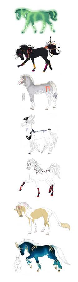 Fantasy horse breed design exercise
