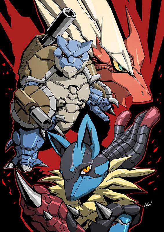 Mecha Pokemon color by adivider