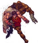 Ryu vs Sagat-SF Action