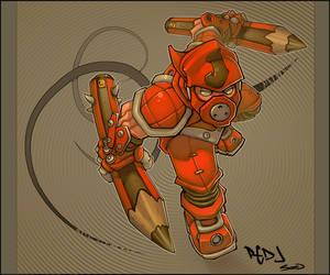 Red J Ninja by -seed-