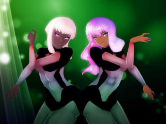 space girls by ChocolateNews