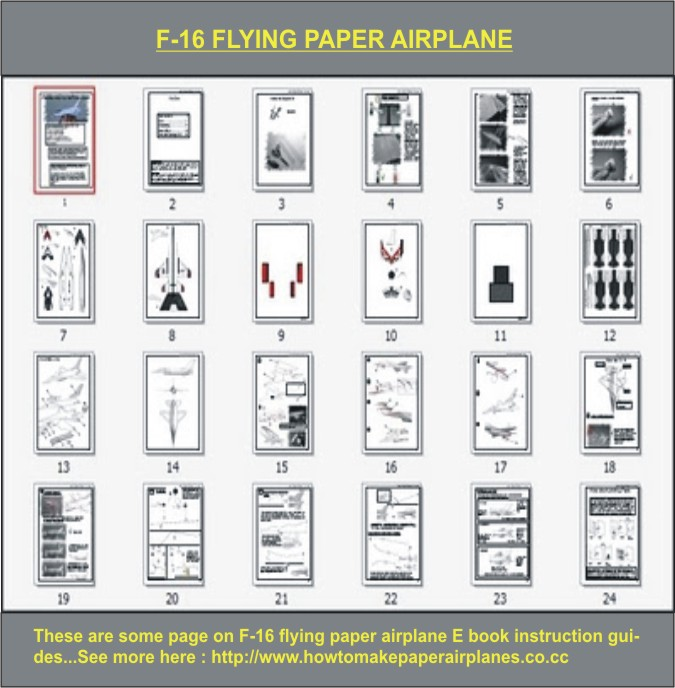 F-16 Thunderbirds Flying Paper Airplane By