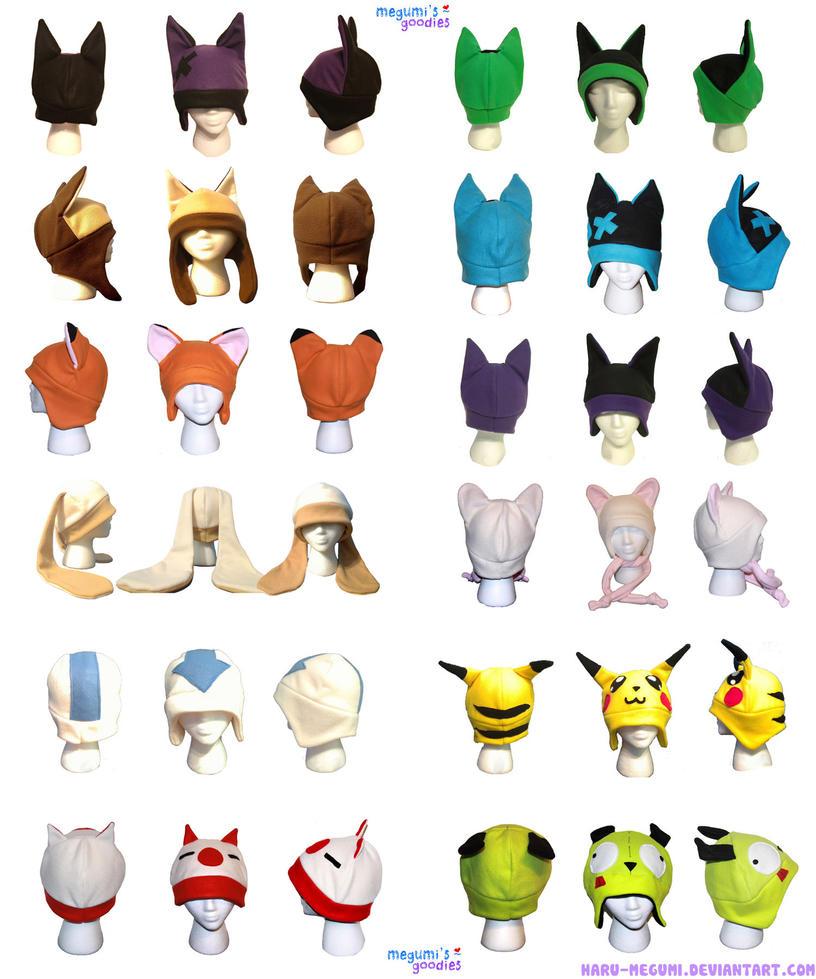 anime cartoon fleece hats by haru megumi on deviantart rh haru megumi deviantart com cartoon hats and gloves cartoon hats for sale