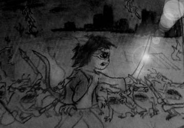 June fighting goblins by rcatstott