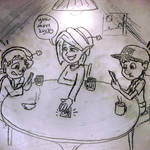 Playing Cards with lucky and felix by rcatstott
