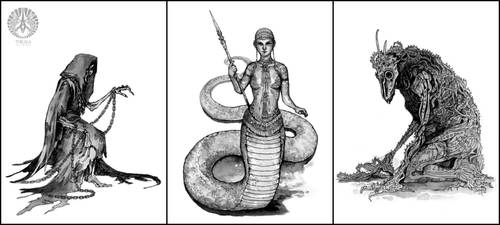 Illustrations for Earthdawn