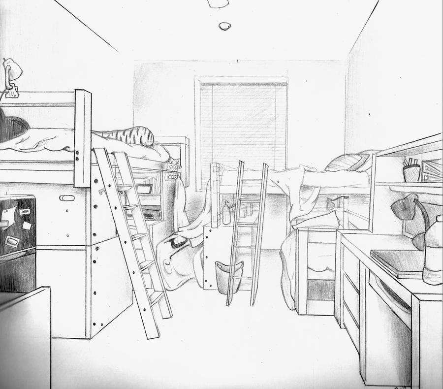 Dorm perspective drawing by sashuka68 on deviantart for Draw my room