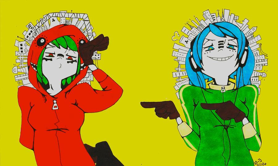 Matryoshka - Miku and Gumi by Sashuka68