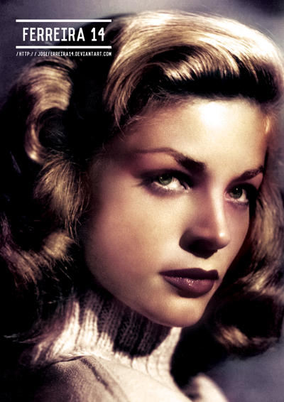 Lauren Bacall Colorized by JoseFerreira14