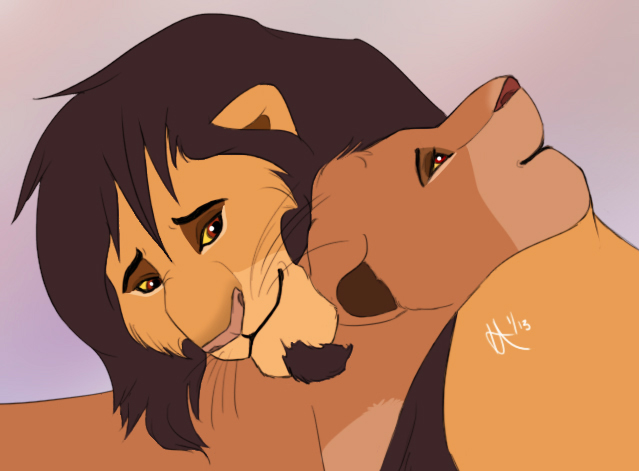 Lion cuddle by nocks