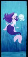 Mermaid and White Mr. Squii