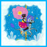Sunshine and Sparkles - Crystal Cloud Carousel by fuish