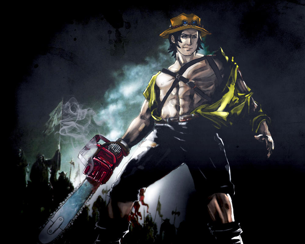 Ace VS. The Army of Darkness by Garnet-Nihilia on DeviantArt