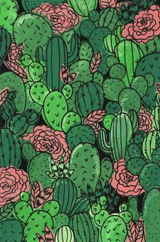 Cactus Pattern Painting