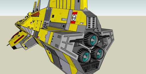 Taiidan Destroyer  complete - Engine