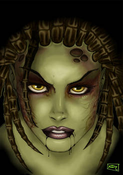 Infected Kerrigan - Coloured