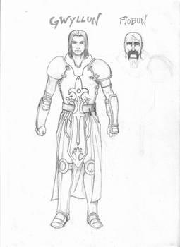 Gwyllun and Fiobun - Sketch