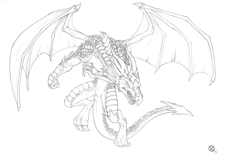 Lujoso Páginas Realistas Para Colorear De Dragones Festooning ...
