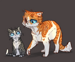 Brightheart and Jaypaw