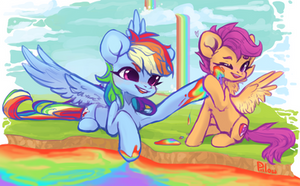 Rainbow Falls by GrayPillow