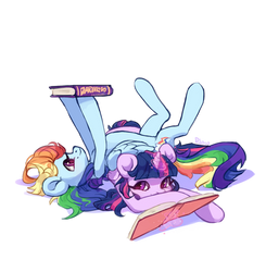 Twilight and Dashie by GrayPillow