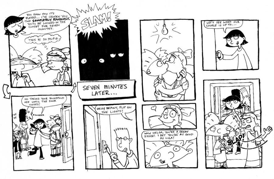 Hey Arnold - closet game comic by unluckystunt on DeviantArt