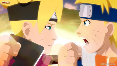 Boruto and young Naruto: super conflict!