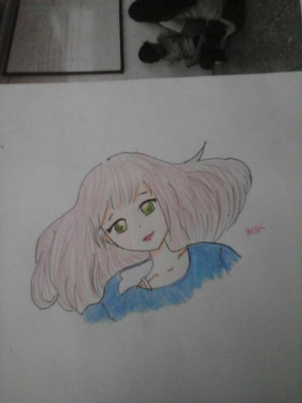 Cute girl sketch (?) by SariDxCxoxoPrincess